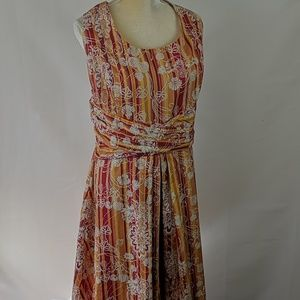 Vintage Colorful Amanda Smith Flowered Print Dress
